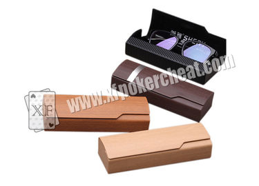 Brown Infrared Glasses Case Camera Poker Card Reader For Casino Games ISO
