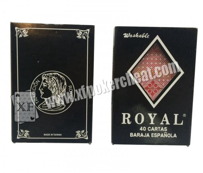 Royal Marked Poker Cards , Cheating Playing Cards For Infrared Camera Poker Analyzer