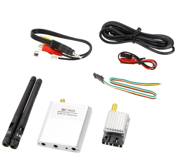 Wireless RX 5.8GHZ 8CH Video Receiver RC305 FPV TX Transmitter